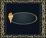 Έμβλημα παγωτού Στοκ Εικόνες