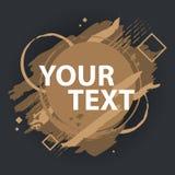 Έμβλημα παφλασμών Grunge Ανασκόπηση Grunge Έμβλημα παφλασμών Διανυσματικές ετικέτες splatter με το διάστημα για το κείμενο Στοκ Εικόνα
