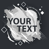 Έμβλημα παφλασμών Grunge Ανασκόπηση Grunge Έμβλημα παφλασμών Διανυσματικές ετικέτες splatter με το διάστημα για το κείμενο Στοκ εικόνα με δικαίωμα ελεύθερης χρήσης