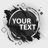 Έμβλημα παφλασμών Grunge Διανυσματικές ετικέτες splatter με το διάστημα για το κείμενο Ετικέτα Grunge Στοκ φωτογραφία με δικαίωμα ελεύθερης χρήσης