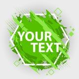 Έμβλημα παφλασμών Grunge Διανυσματικές ετικέτες splatter με το διάστημα για το κείμενο Ετικέτα Grunge Στοκ Φωτογραφίες