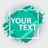 Έμβλημα παφλασμών Grunge Διανυσματικές ετικέτες splatter με το διάστημα για το κείμενο Ετικέτα Grunge Στοκ φωτογραφίες με δικαίωμα ελεύθερης χρήσης