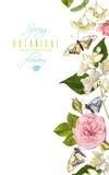 Έμβλημα πεταλούδων λουλουδιών Στοκ Φωτογραφίες