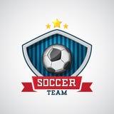 Έμβλημα ποδοσφαίρου Στοκ εικόνα με δικαίωμα ελεύθερης χρήσης