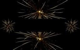 Έμβλημα πυροτεχνημάτων στο Μαύρο Στοκ εικόνα με δικαίωμα ελεύθερης χρήσης