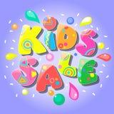 Έμβλημα πώλησης παιδιών στοκ εικόνες
