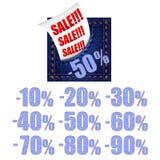Έμβλημα πώλησης τζιν Στοκ Εικόνες