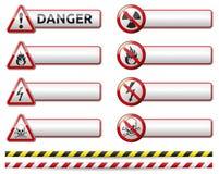 Έμβλημα σημαδιών κινδύνου Στοκ Εικόνες
