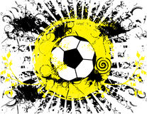 Έμβλημα σφαιρών ποδοσφαίρου grunge Ελεύθερη απεικόνιση δικαιώματος