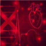 Έμβλημα σφυγμού καρδιών Στοκ Φωτογραφίες