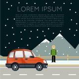 Έμβλημα ταξιδιού αυτοκινήτων Στοκ φωτογραφία με δικαίωμα ελεύθερης χρήσης