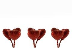Έμβλημα των κόκκινων μορφών καρδιών Στοκ φωτογραφία με δικαίωμα ελεύθερης χρήσης