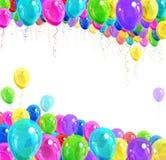 Έμβλημα των μπαλονιών Στοκ Εικόνα