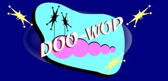 Έμβλημα υποβάθρου Doo wop Στοκ Φωτογραφία