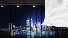 Έμβλημα υφάσματος τραβήγματος επιχειρηματιών Στοκ εικόνες με δικαίωμα ελεύθερης χρήσης