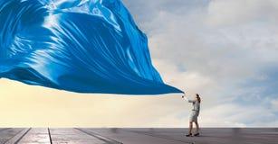 Έμβλημα υφάσματος τραβήγματος επιχειρηματιών Στοκ εικόνα με δικαίωμα ελεύθερης χρήσης