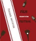 Έμβλημα φεστιβάλ ταινιών - αναδρομικό Στοκ φωτογραφία με δικαίωμα ελεύθερης χρήσης