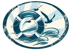 Έμβλημα φρουράς θάλασσας ελεύθερη απεικόνιση δικαιώματος