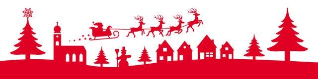 Έμβλημα χειμερινών Χριστουγέννων ελεύθερη απεικόνιση δικαιώματος