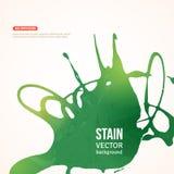 Έμβλημα χρωμάτων Splatter επίσης corel σύρετε το διάνυσμα απεικόνισης Πράσινος Στοκ εικόνες με δικαίωμα ελεύθερης χρήσης