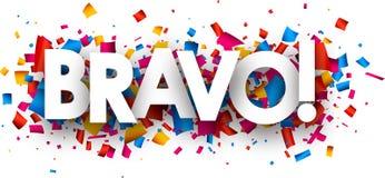 Έμβλημα Bravo ελεύθερη απεικόνιση δικαιώματος
