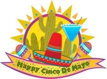 Έμβλημα Cinco de Mayo στοκ εικόνα με δικαίωμα ελεύθερης χρήσης