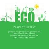 Έμβλημα Eco Στοκ εικόνα με δικαίωμα ελεύθερης χρήσης