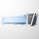 Έμβλημα Infographic, ορισμένο origami διάνυσμα Στοκ εικόνες με δικαίωμα ελεύθερης χρήσης