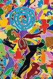 Έμπνευση και τρελλός, πλήρης των χρωμάτων το αφηρημένο υπόβαθρο Στοκ Εικόνα