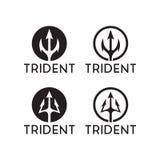 Έμπνευση λογότυπων τριαινών απεικόνιση αποθεμάτων