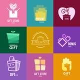 Έμπνευση λογότυπων για τα καταστήματα, τις επιχειρήσεις, τη διαφήμιση ή τις άλλες επιχειρήσεις απεικόνιση αποθεμάτων