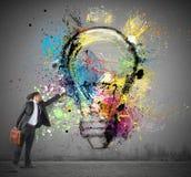 Έμπνευση στις δημιουργικές ιδέες στοκ εικόνα