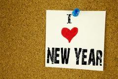 Έμπνευση τίτλων κειμένων γραψίματος χεριών που παρουσιάζει έννοια καλής χρονιάς αγάπης Ι που σημαίνει την αγάπη εορτασμού Χριστου Στοκ φωτογραφία με δικαίωμα ελεύθερης χρήσης