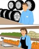 Έμποροι behinde αντίθετοι Απεικόνιση αποθεμάτων