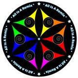Έναρξη αγάπης ειρήνης χρώματος κόσμου Mandala Στοκ εικόνα με δικαίωμα ελεύθερης χρήσης