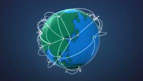 Έναρξη ΑΣΙΑ, αυξανόμενο παγκόσμιο δίκτυο με την επικοινωνία απεικόνιση αποθεμάτων