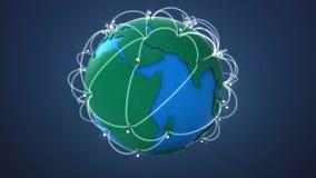 Έναρξη Αφρική, αυξανόμενο παγκόσμιο δίκτυο με την επικοινωνία ελεύθερη απεικόνιση δικαιώματος
