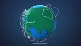 Έναρξη Ευρώπη, αυξανόμενο παγκόσμιο δίκτυο με την επικοινωνία απεικόνιση αποθεμάτων