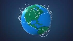 Έναρξη ΗΠΑ, αυξανόμενο παγκόσμιο δίκτυο με την επικοινωνία απεικόνιση αποθεμάτων