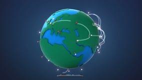 Έναρξη Κίνα, αυξανόμενο παγκόσμιο δίκτυο με την επικοινωνία διανυσματική απεικόνιση