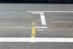 Έναρξη και γραμμή τερματισμού Grand Prix του Μονακό F1 Στοκ εικόνες με δικαίωμα ελεύθερης χρήσης