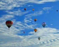 Έναρξη πρωινού των μπαλονιών ζεστού αέρα Στοκ Φωτογραφίες