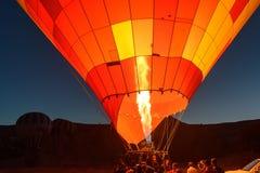 Έναρξη πρωινού των μπαλονιών ζεστού αέρα σε Cappadocia Τουρκία Στοκ φωτογραφίες με δικαίωμα ελεύθερης χρήσης