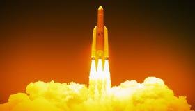 Έναρξη πυραύλων διανυσματική απεικόνιση