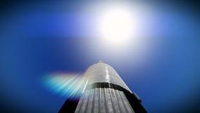 Έναρξη πυραύλων στο μήκος σε πόδηα ήλιων ελεύθερη απεικόνιση δικαιώματος