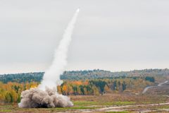 Έναρξη πυραύλων Στοκ εικόνα με δικαίωμα ελεύθερης χρήσης