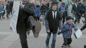 Έναρξη της διεθνούς ανόητης ημέρας περιπάτων, Μπρνο, Δημοκρατία της Τσεχίας φιλμ μικρού μήκους