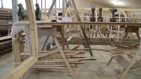 Έναρξη της κατασκευής μιας βάρκας στο ναυπηγείο απόθεμα βίντεο
