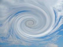 Έναρξη τυφώνα που διαμορφώνει την άποψη από την κορυφή Στοκ Φωτογραφία