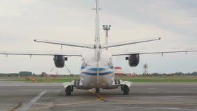 Έναρξη των turboprop μηχανών αεροσκαφών απόθεμα βίντεο